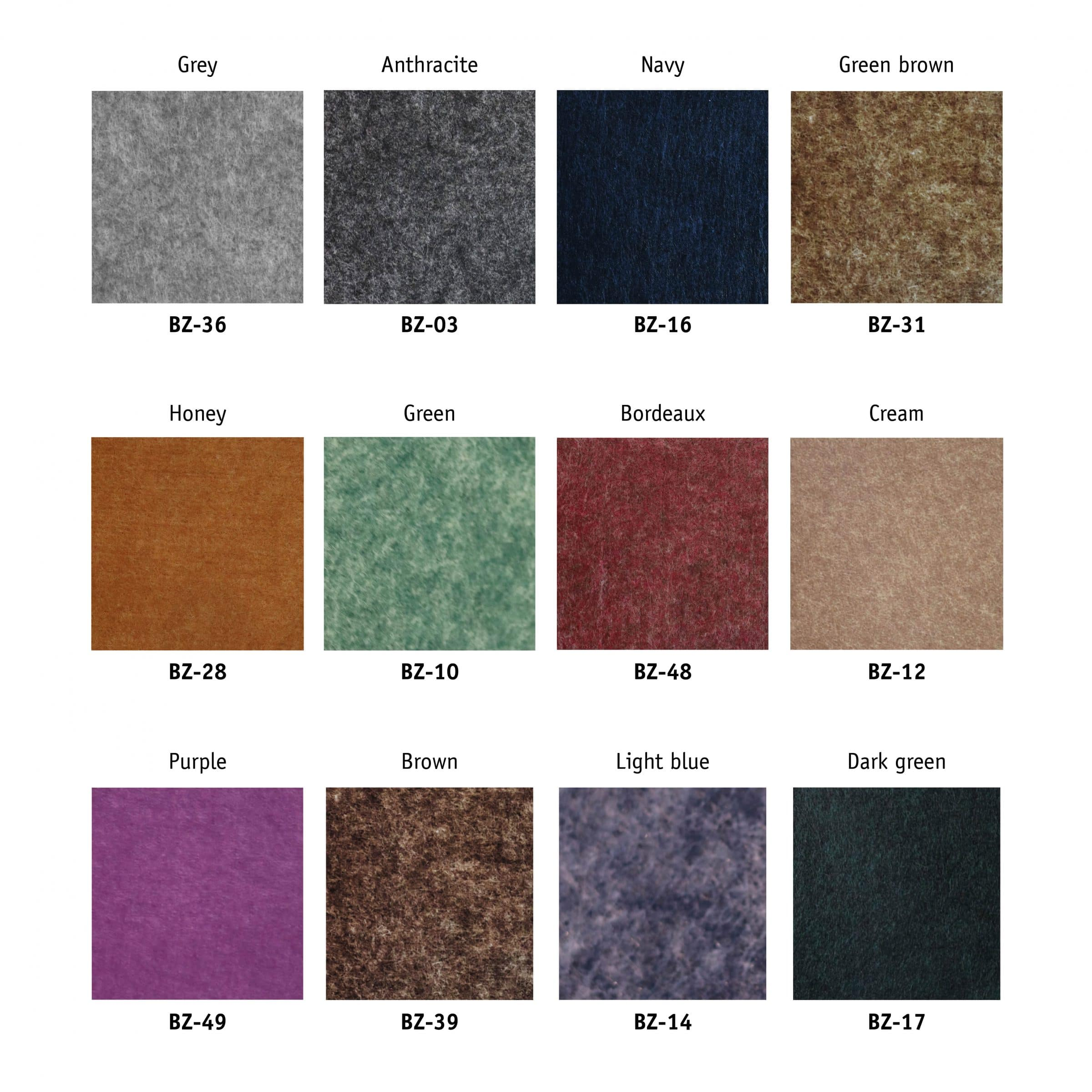 EASYpet Felt panels colours